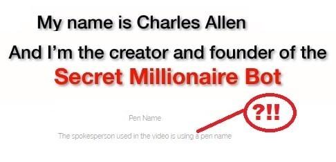 Charles Allen Founder Of Secret Millionaire Bot