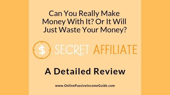 Secret Affiliate Website Review