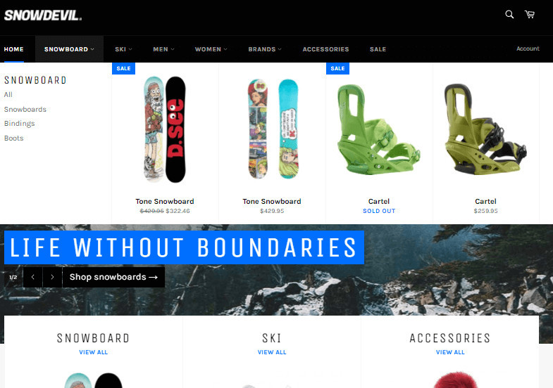 Venture Free Shopify Theme for Large Stores