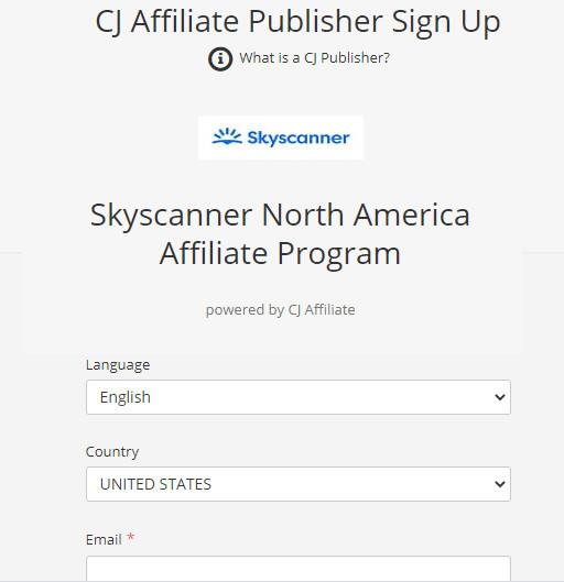 Join Skyscanner Affiliate Program