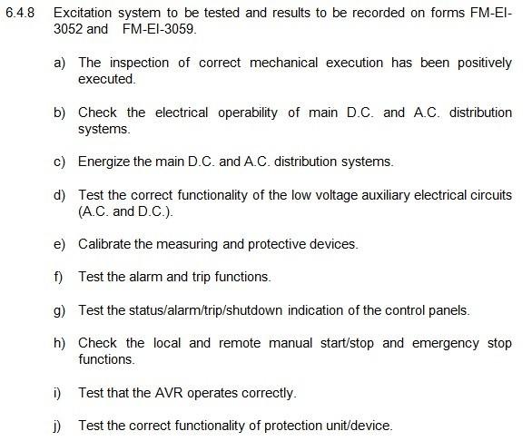 Quality Control Procedure For Emergency Diesel Generators