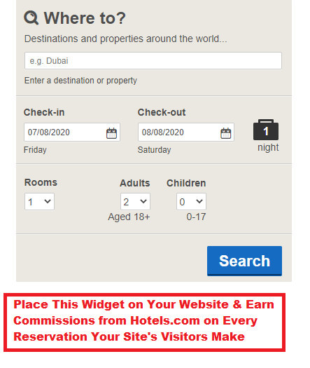Make Money with Hotels.com As an Affiliate
