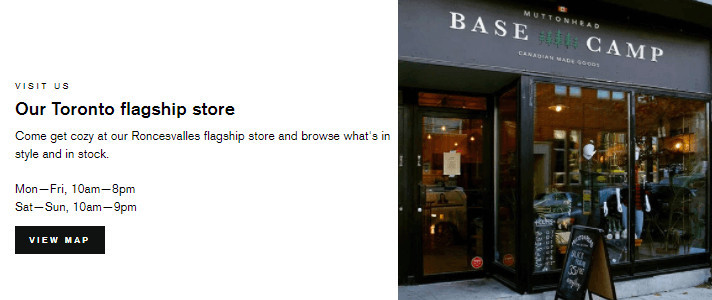 Store Map on Impulse Theme