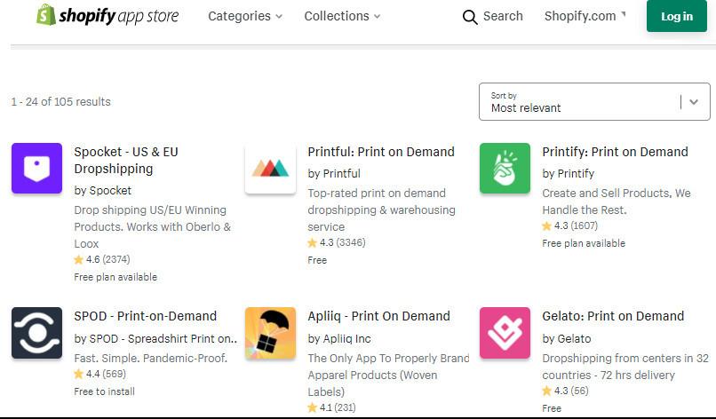 Merch POD Shopify Apps
