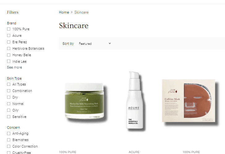 Shopify Superstore Theme Sidebar Filters