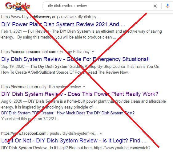 DIY Dish System Plans Reviews