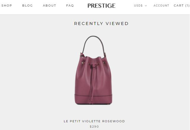 Prestige Recently Viewed Items