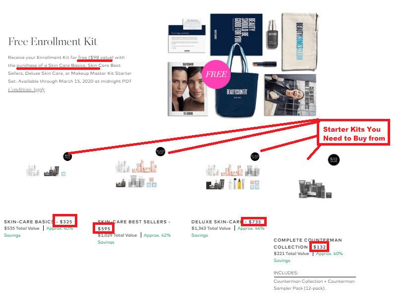 BeautyCounter MLM Cost
