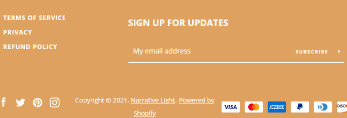 Narrative Theme Email Signup