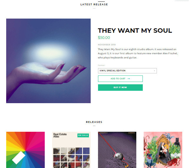 Label Shopify Theme for Musicians