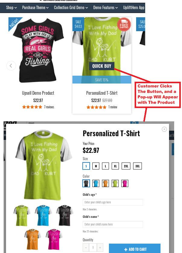 Shoptimized Quick Buy Button