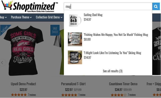Shoptimized Predictive Search