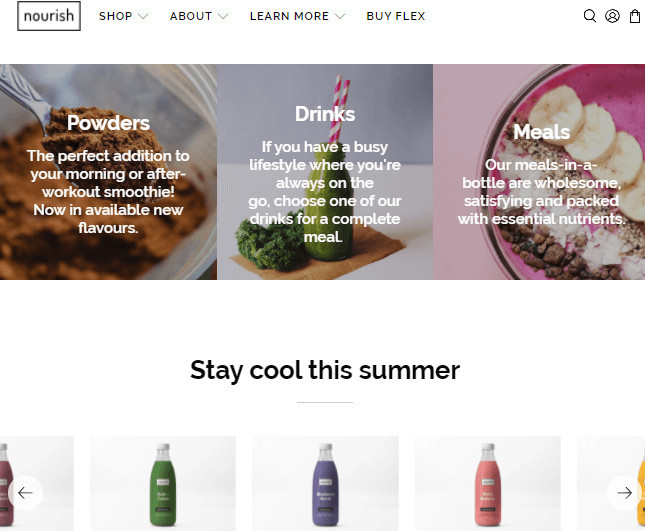 Flex Shopify Food Delivery Theme