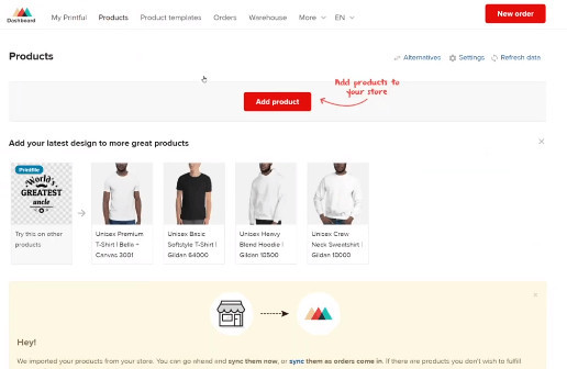 Add Merch Product on Shopify