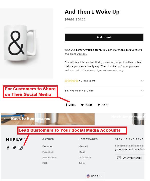 Social Media Icons on Motion Theme