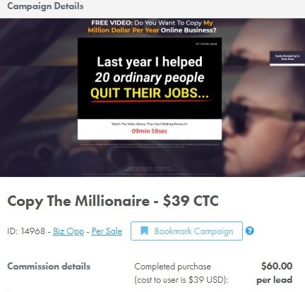 Copy The Millionaire & 6 Steps To Freedom Cost