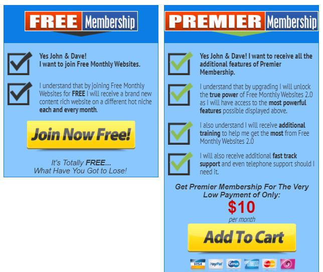Free Monthly Websites 2 Price