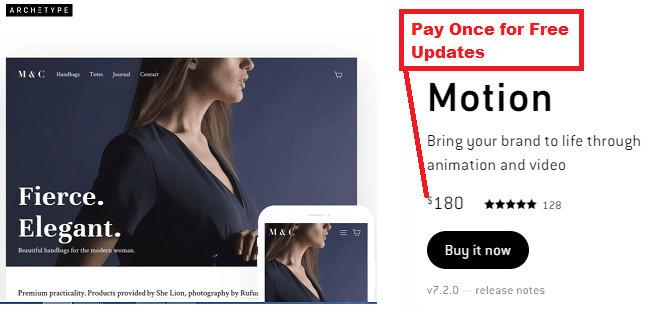 Shopify Motion Theme Price