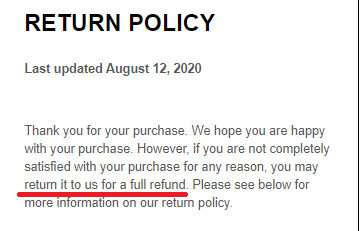 MiracleWatt Refund Policy