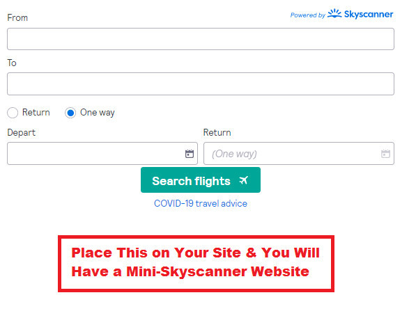 Make Money with Skyscanner Affiliate Program