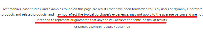 Infinite Energy Generator Testimonials