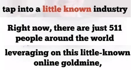 Secret Online Goldmine Misleading Info