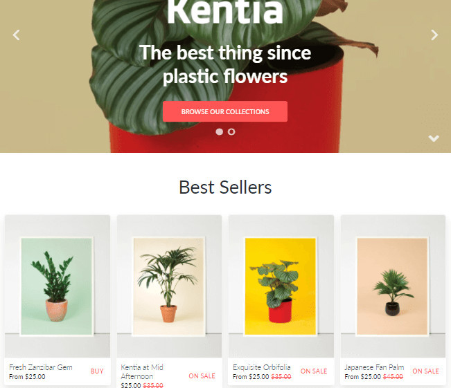 California Shopify Paintings Theme