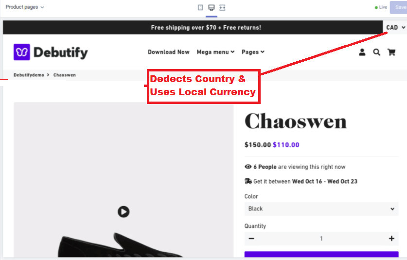 Debutify Currency Converter Features