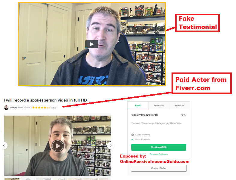 Fake Passive Profit Pages Testimonials