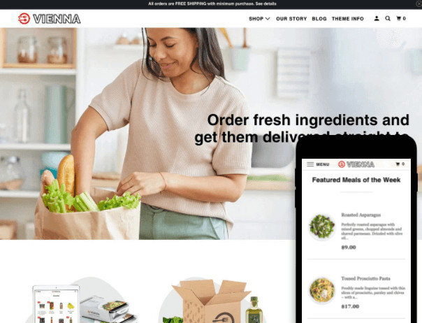 Parallax Shopify Grocery Store Theme