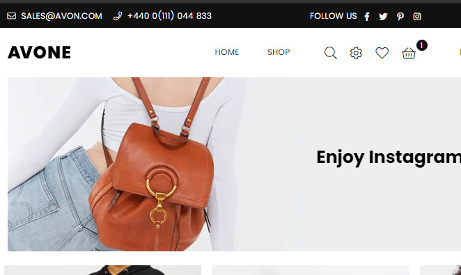Avone Shopify Top Bar