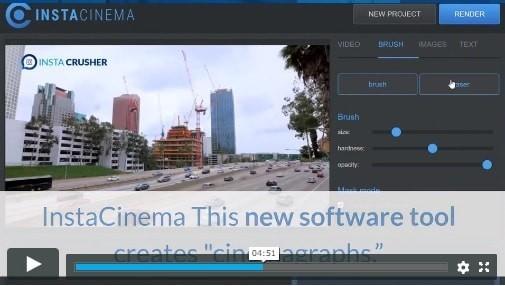 Insta Cinema Software For Creating Cinemagraphs