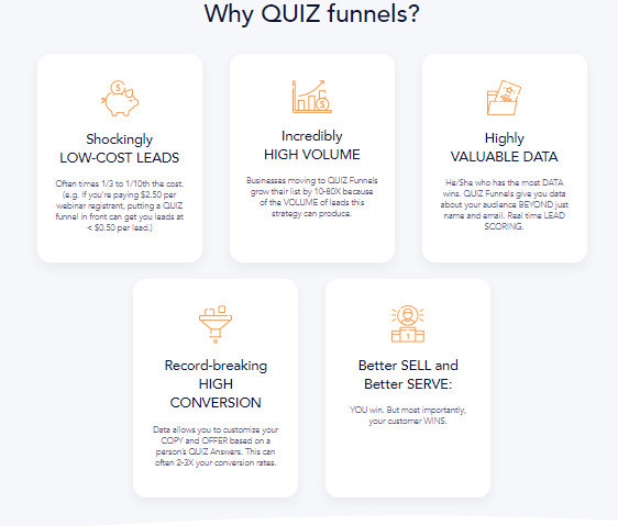 Benefits of The Quiz Funnel