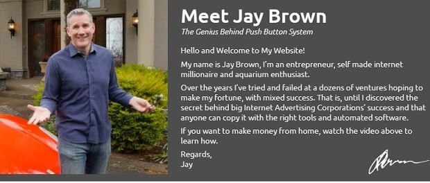 Jay Brown Founder Of Push Button System