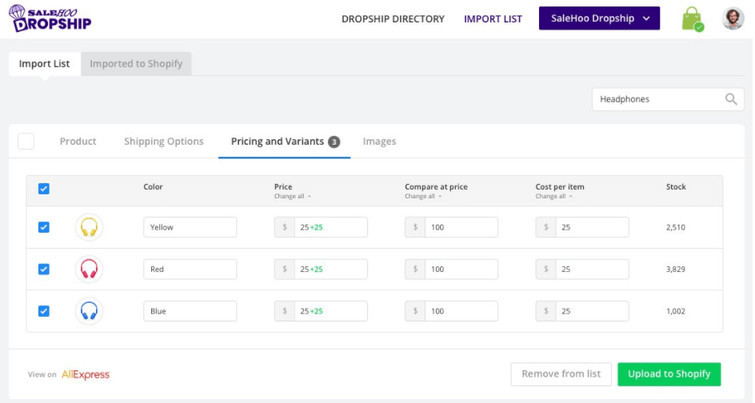 Import SaleHoo Dropship Products to Shopify