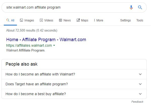 Finding In-house Affiliate Programs
