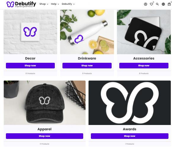 Debutify Freemium Shopify Art Store Theme