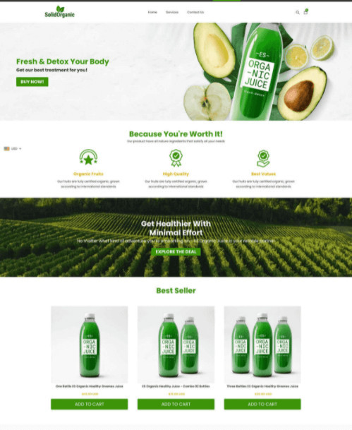 EcomSolid Restaurant Shopify Theme