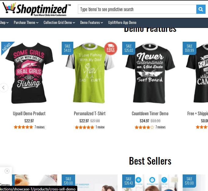 Shoptimized Demo Store