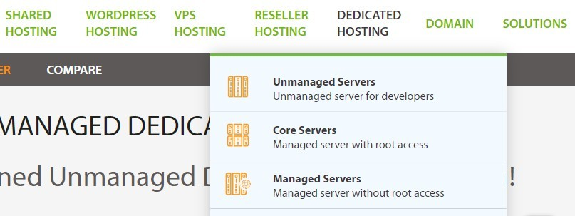 A2 Hosting Different Services