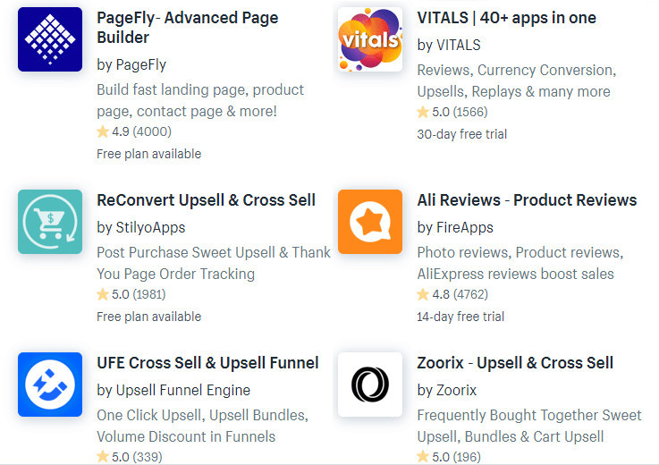 Shopify Dropshipping Scaling Apps