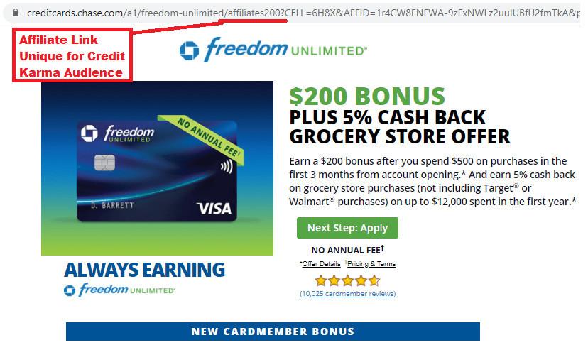 CreditKarma.com Affiliate Links