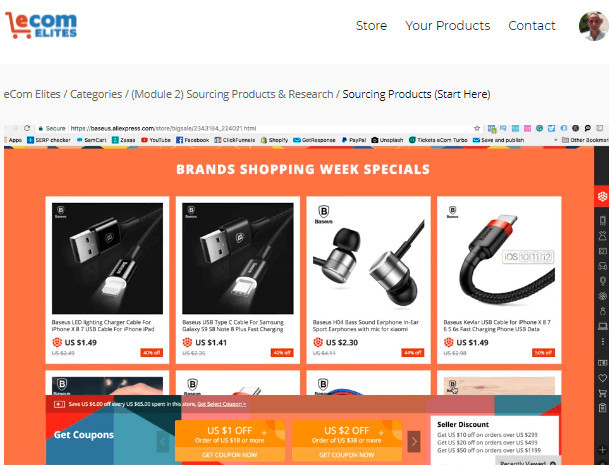 Product Research on Ecom Elites