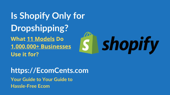 Is Shopify for Dropshipping Only