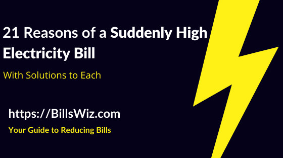 Why Is Electric Bill So High Suddenly