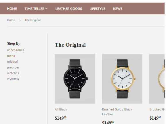Shopify Supply Theme Sidebar Filters