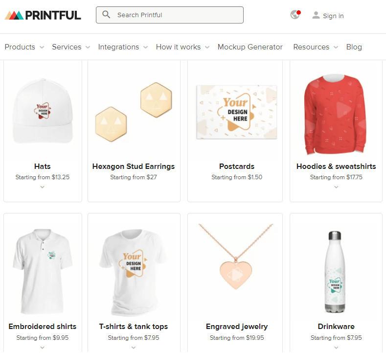 Printful Alternative to Amazon Merch