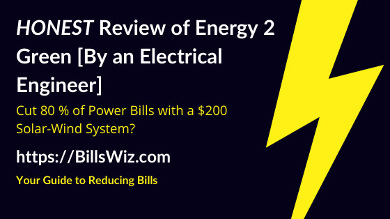 Energy 2 Green Scam Review