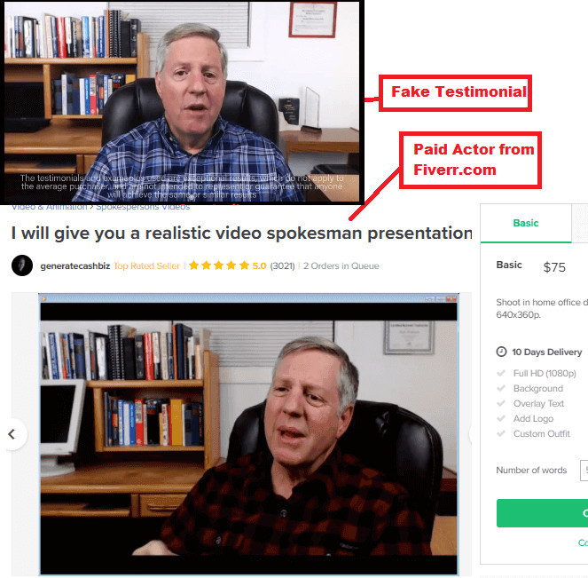 My Commission Bootcamp Fake Testimonials