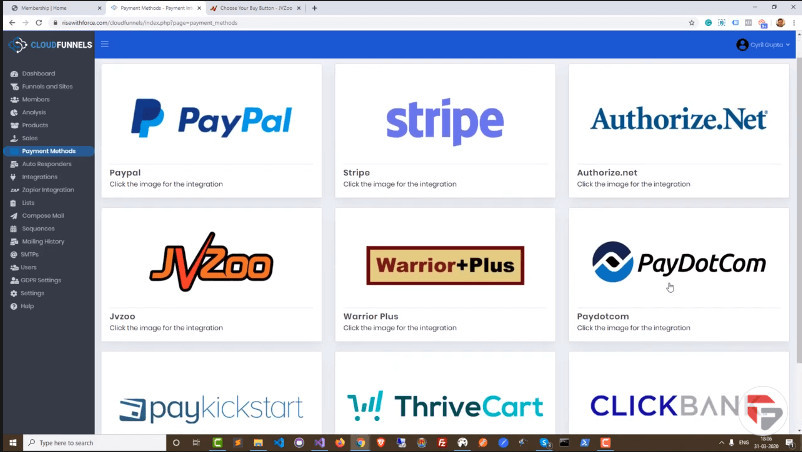 CloudFunnels Payment Integrations